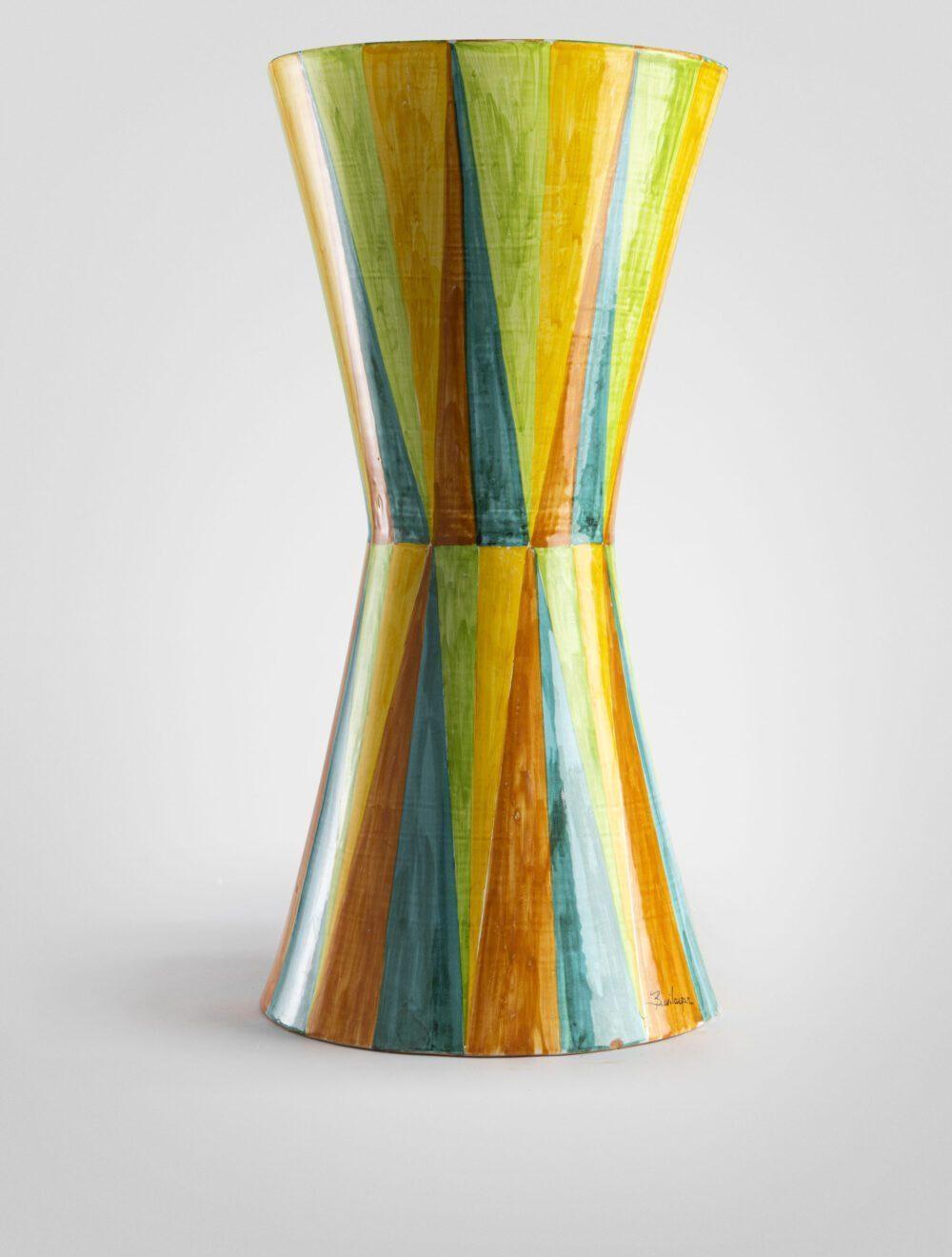 Saraceno tavolo geometrico decoro a rombi lucido