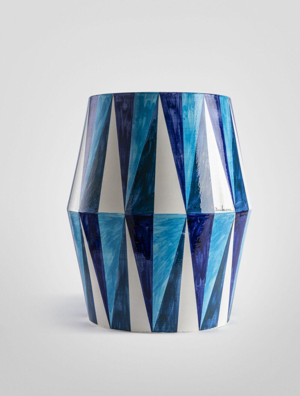 Mediterraneo tavolo geometrico decoro a rombi lucido