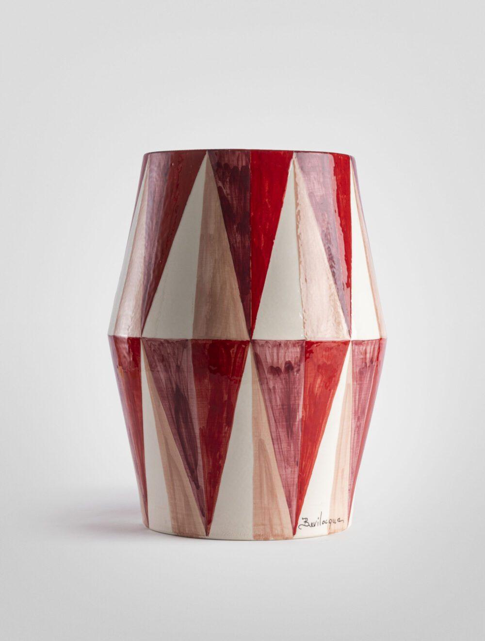 Lavico tavolo geometrico decoro a rombi lucido